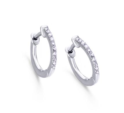 7eaa7c2f8017 Aros Oro Blanco con Diamantes