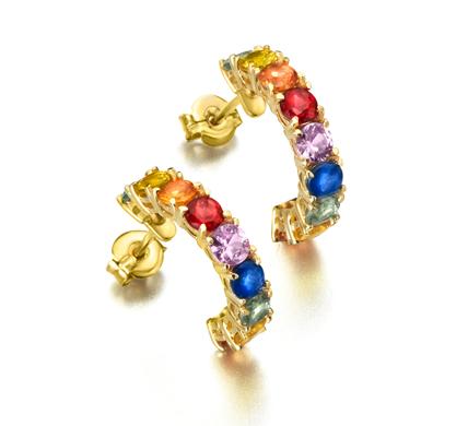 fec7162d830d Pendientes Oro Zafiros Colores