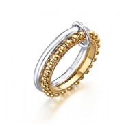 Anillo New Bubbles Plata/Oro