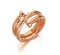 Tubogas Rose Gold Ring