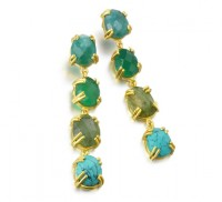 Pendientes Sunset Lights green