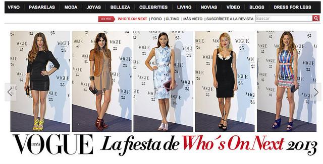 Fotos de la Alfombra roja de Vogue Whos on Next