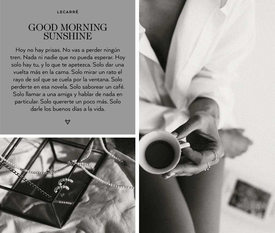 Colección de joyas Mini perlas y Oro de LECARRÉ Good Morning Sunshine