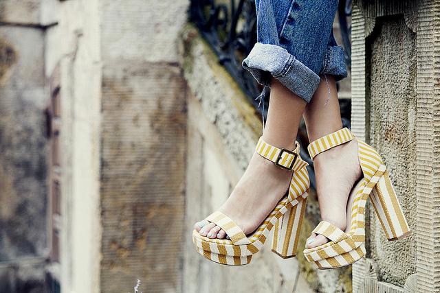 Sandalias de Randa de rayas