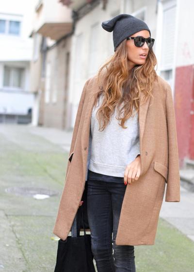 Abrigo color camel