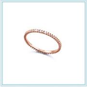Anillo Diamantes recubierto de Oro de 18kt rosa