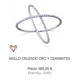 ANILLO CRUZADO DE DIAMANTES DE LECARRE