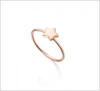 Anillo estrella oro rosa