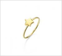 Anillo estrella oro
