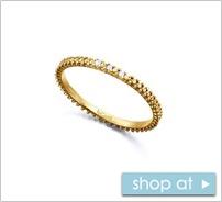 anillo finito con diamantes de oro
