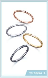 anillos tipo alianza con diamantes pequenos