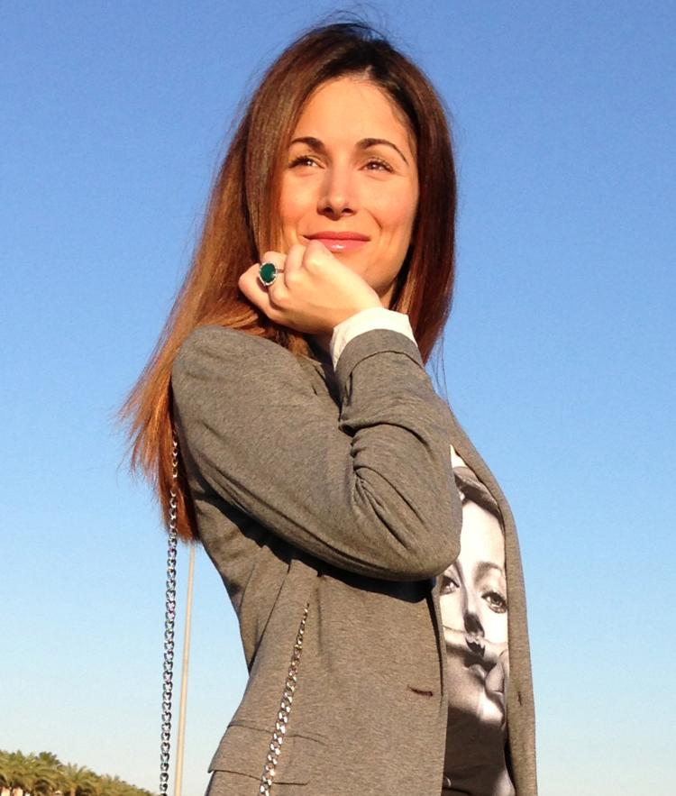 Blazer de Zara de color gris