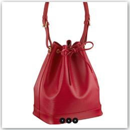 Bolso de Louis Vuitton modelo Noé de cuero rojo