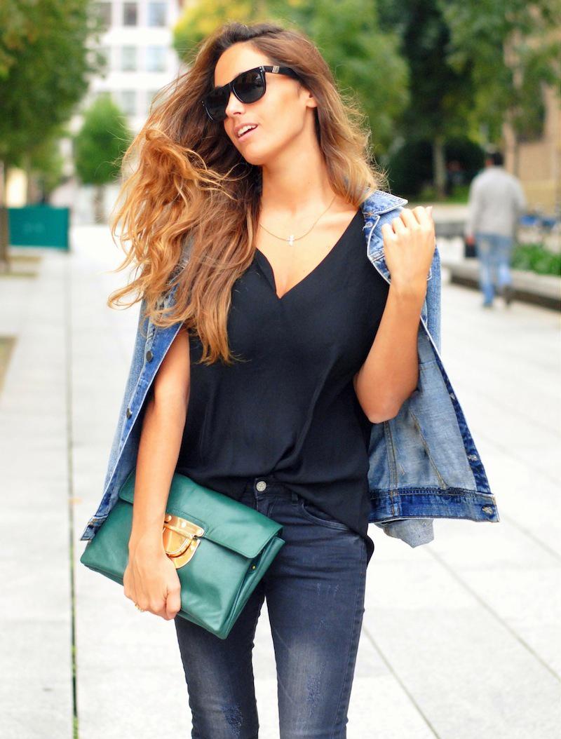 Chaqueta Vaquera y jeans
