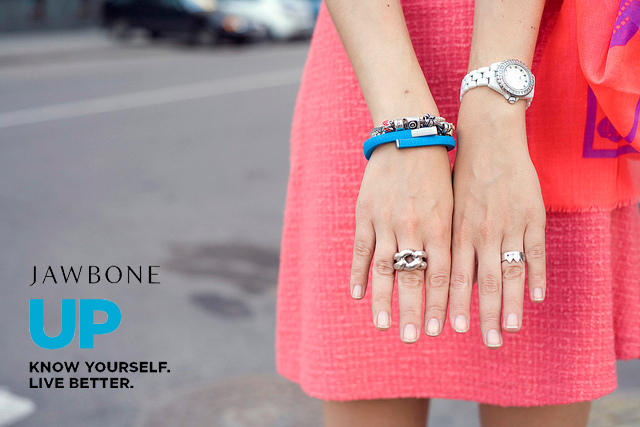 Pulsera Jawbone y anillo de plata leCarré