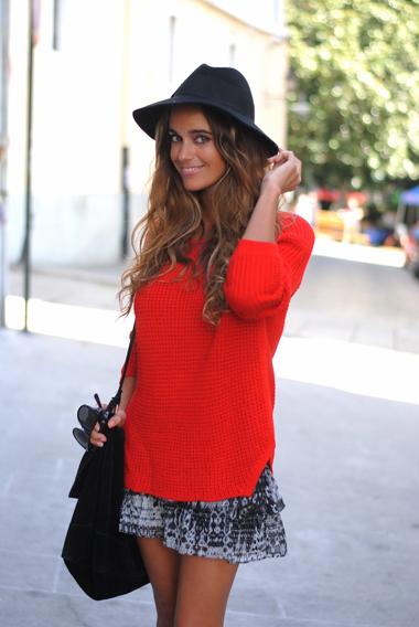 Jersey rojo de Zara