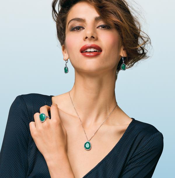 Joyas con Piedra Verde