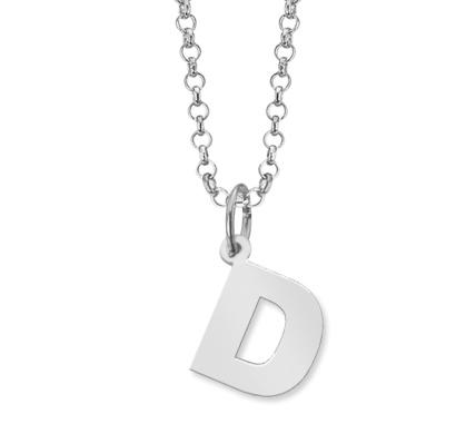 986fe8107a83 Colgante con Letra D mas Cadena de plata