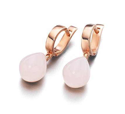 80de3995c20e Pendientes piedras rosa
