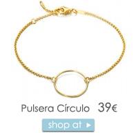 Pulsera círculo oro