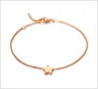 Pulsera estrella oro 18kt rosa