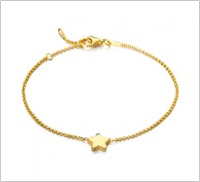 Pulsera estrella oro