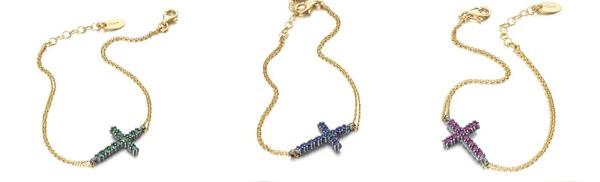 Pulseras con cruces