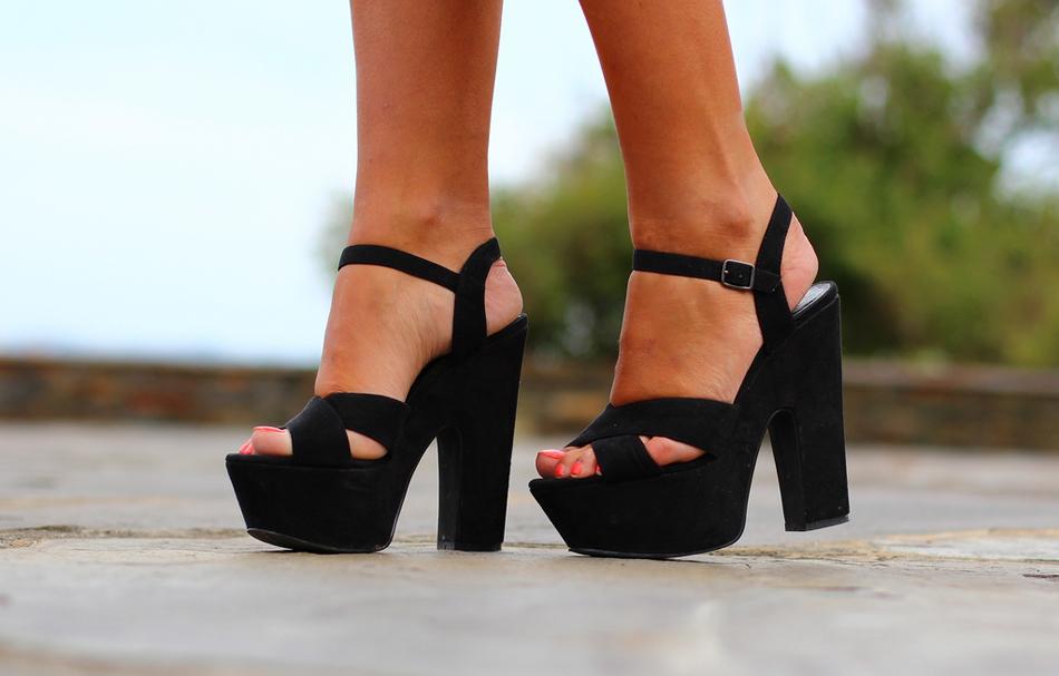 Sandalias La Strada de color negro