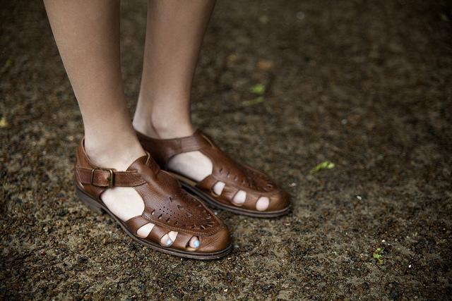 Sandalias de cuero de la marca Hudson