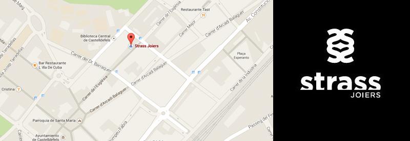 Localización en Mapa de Castelldefels de Strass Joiers