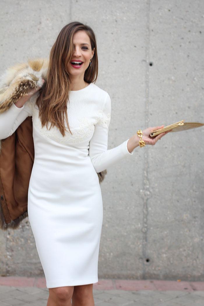 Vestido blanco claro