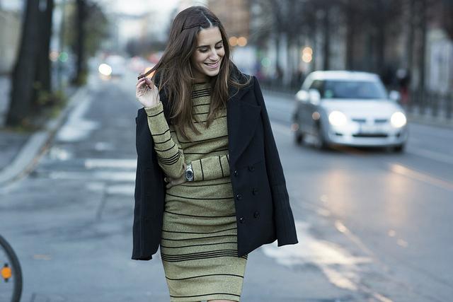 Vestido dorado Patrizia Pepe