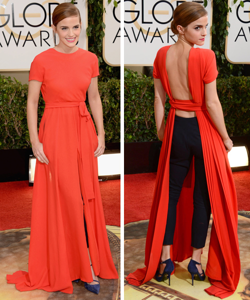 Increible vestido de Emma Watson en los Globos de Oro
